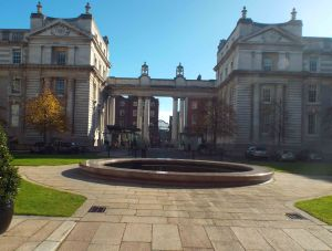 The quadrangle and fountain